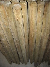 6 x 4ft ROUND WOODEN TREE STAKES/SUPPORTS- FENCE POSTS