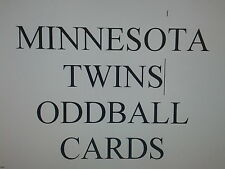 MINNESOTA TWINS  - 50 DIFFERENT ODDBALL cards