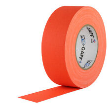 "Pro Tapes 2"" x 50 Yards Pro Gaff Tape - Fluorescent Orange"