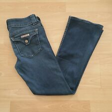 Hudson Women's Boot Cut Jeans Size 29 Blue Dark Wash Flap Button Pockets