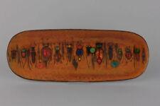 Emaillierte Schale mit Insekten signiert Baj Paris  Länge: 39 cm