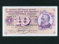 Switzerland:P-45o,10 Franken,1969 * Gottfried Keller * UNC *