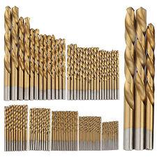 99pcs HSS Titanium Coated Metal High Speed Steel Drill Bit Set Tool 1.5-10mm UK