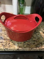 New listing Rachael Ray 2.75 Quart Covered Casserole Stoneware Baking Dish Red