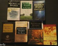 NICHOLAS SPARKS Seven (7) Book Paperback Lot Notebook At First Sight Rescue