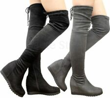 Wedge Party Faux Suede Pull On Boots for Women