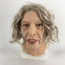 Female Latex Mask Old Lady Halloween Costume Crossdressing Sissy Realistic Face