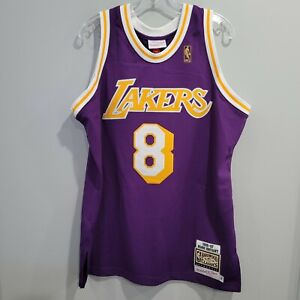 NWT Authentic Mitchell Ness 1996 LA Lakers Kobe Bryant 8 Rookie Jersey 44 L $300