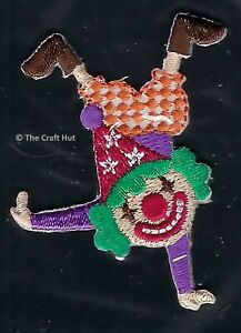 Sew or Iron On Craft Motif Patch Craft S&W Circus Funny Clown M089 New