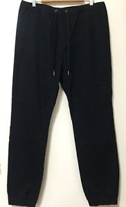 Brave by Wayne Cooper Black Casual Cotton Trousers Size 36 RRP $99.95