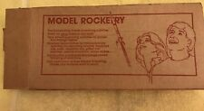 ESTES 1988 FLYING MODEL ROCKET WITH CATALOGS AND ORIGINAL SHIPPING BOX~NOS