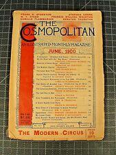 The Cosmopolitan magazine June 1900 Antique magazine Stephen Crane W.T. Stead