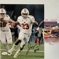 Autographed/Signed JONATHAN TAYLOR Wisconsin Badgers 8x10 Photo JSA COA Auto #3