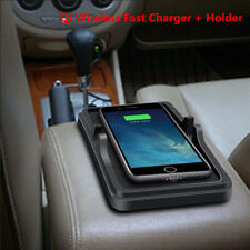 Car Holder Dashboard Stand Qi Wireless Fast Charger Non-Slip Pad for Phone GPS