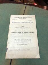 More details for lner 1945 sheffield station whitsuntide arrangements