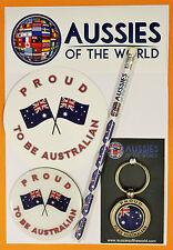 PROUD TO BE AUSTRALIAN GIFT PACK AUSSIE KEYRING STICKER AUSTRALIAN SOUVENIR