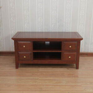 Solid Mahogany New York Straight TV Unit Stand, NEW  REF-CBN-060,FREE DELIVERY.