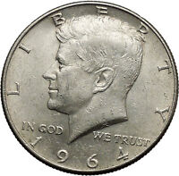 1964 President John F. Kennedy Silver Half Dollar United States USA Coin i44612
