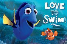 Disney Find Dory and Nemo Love to Swim Bath Memory Foam Mat/Rug 16 x 24 Inches