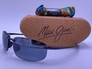 MAUI JIM MJ407-02 HO'OKIPA Polarized Sunglasses Black/Neutral Gray AUTHENTIC