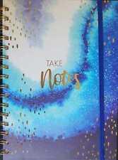 A5 Notebook Spiral Bound Ruled Writing Journal Notepad Starry Sky Design