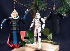 Star War Storm Trooper, Palpatine, Bib Fortuna 3 pi LOT Christmas Tree Ornament