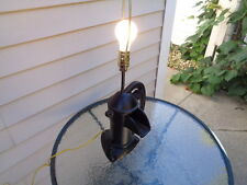 Vintage repurposed cast iron water hand well pump light lamp