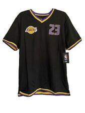 Official Lakers LEBRON JAMES Jersey Shirt V-Neck Men's Sz Small NEW Best Price!