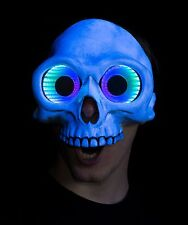 White Skull LED Infinity Mirror Mask, led mask, burning man mask, rave mask