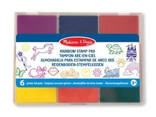 MELISSA AND DOUG RAINBOW STAMP PAD SET OF 6 COLOURS  BRAND NEW