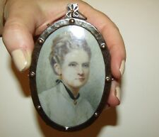 RARE, VICTORIAN, MINIATURE PORTRAIT PAINTING SIGNED BY ARTIST LILLY REUSS