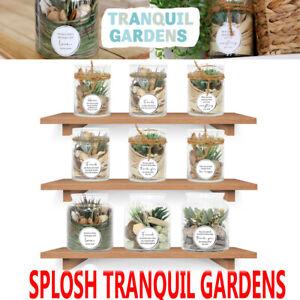 Tranquil Gardens Outdoors Inside Ceramic Verse Pot Plant Glass Jar Gift Splosh