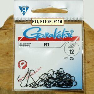 Gamakatsu F11  F11-3F F11B Größe #18,16;14;12;10;8;6;4;2 Trockenfliegen Haken