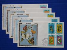 "Palau (183-186) 1988 Butterflies & Flowers Colorano ""Silk"" FDCs"