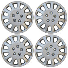 "4 Pc Silver Hub Caps Fit 1993 1994 1995 1996 1997 TOYOTA COROLLA 14"" Wheel Cap"
