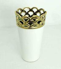 White porcelain vase with gold design Home decorative