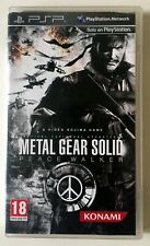 METAL GEAR SOLID PEACE WALKER PSP - IMPECABLE, COMPLETO -