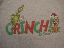 Dr. Seuss's How The Grinch Stole Christmas Book The Grinch Gray T Shirt Size M