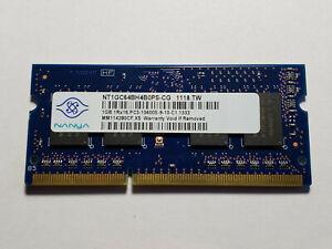 Nanya / HP - 1GB DDR3 1333mhz PC3-10600S 1Rx16 SODIMM 4-chip Laptop RAM Memory
