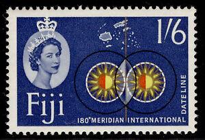 FIJI QEII SG318, 1s 6d red, yellow, gold, black & blue, M MINT.