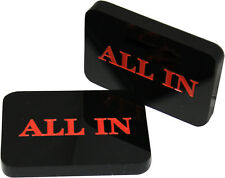 5pcs Acrylic All In Button Casino Quality Plaque Dealer Button Large Black