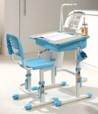 Vipack: Mitwachsender Kinder-Schreibtisch + Stuhl + Lampe COMFORTLINE  Blau/Weiß