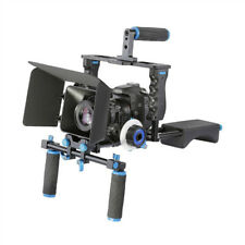 DSLR Camera Cage Shoulder Rig Kit With Follow Focus & Matte Box For Nikon/Pentax