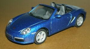 1/34 Scale 2005 Porsche 987 Boxster S Diecast Model Car - Kinsmart KT5302 Blue
