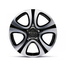 "Genuine Fiat 500X 18"" Bright Black Diamond Cut Alloy Wheels Set of 4 - 51993393"