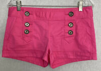 Express Women's Pink Shorts Size 4 Pockets Buttons Cotton/Spandex NWT NEW $44.90