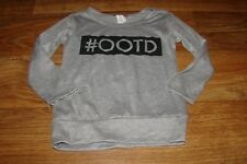 MISS POPULAR LITTLE GIRLS SIZE 7/8 #OOTD (OUTFIT OF THE DAY) GRAY L/S TOP