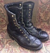 White's Hathorn Explorer Boots 10.5 D Mens Wildland Firefighter Black Leather