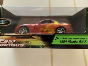 1:18 1994 Mazxda RX-7 Fast and the Furious Ertl Racing Champions