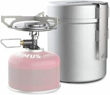 Primus Essential Trail Kit - Gas Camping Stove with Compact Pot Set